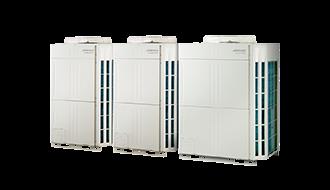 Серія V-III (тропічна серія), підключається до 64 внутрішніх блоків (робота на холод та тепло)